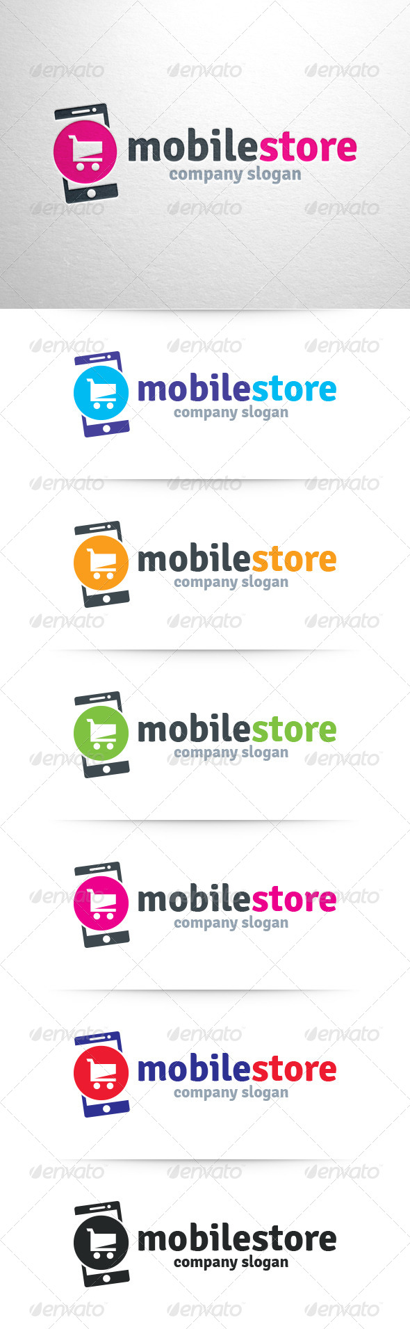 GraphicRiver Mobile Store Logo Template 6452494