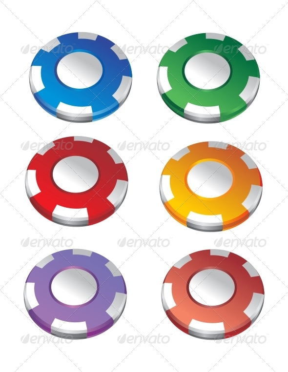 GraphicRiver Color Casino Chips 6452844