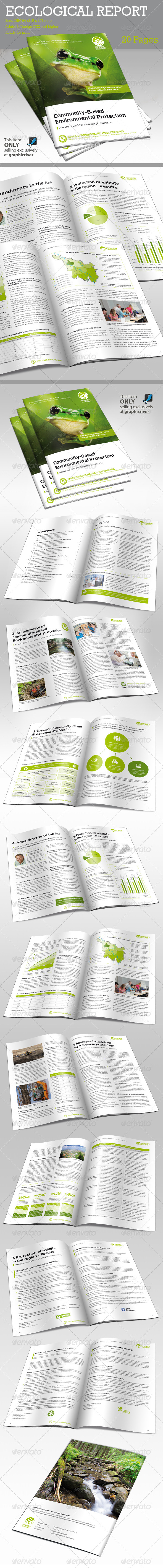 GraphicRiver Report Ecological 6452920