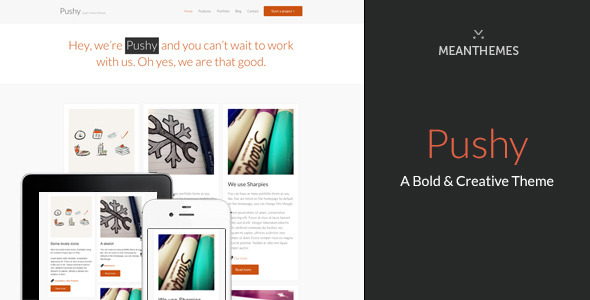 Pushy - A Bold & Creative Marketing WP theme