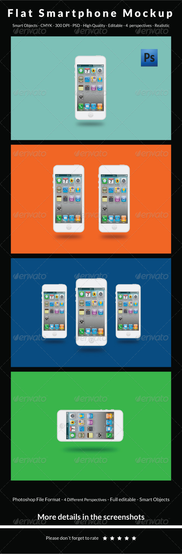 GraphicRiver Flat Smartphone Mockup 6452998