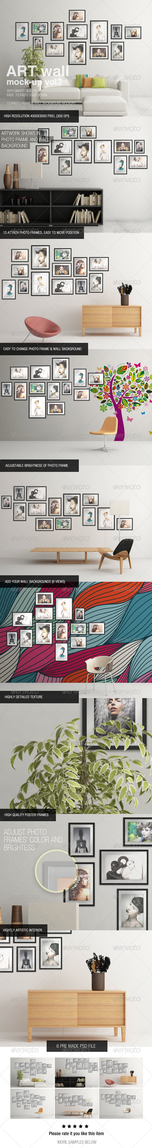 GraphicRiver Art Wall Mock-Up Vol.2 6453627
