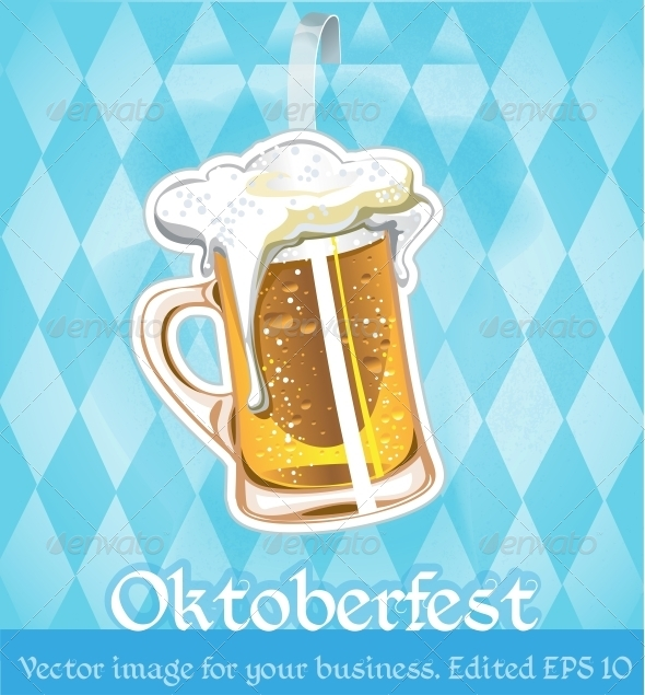 GraphicRiver Image with Beer on Oktoberfest 6453644