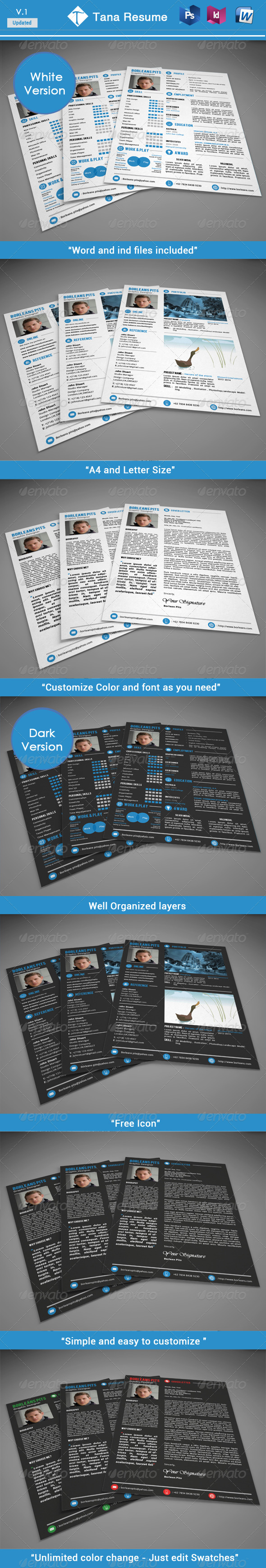 GraphicRiver Tana resume 6342027