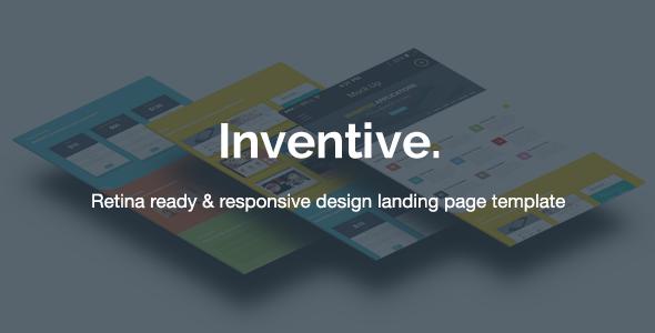 Inventive - Retina Landing Page Template