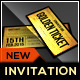Admit One VIP Ticket Invitation Template
