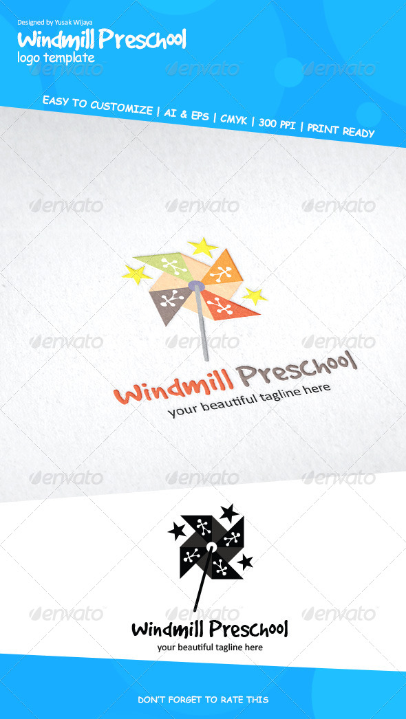 GraphicRiver Windmill Preschool 6454557