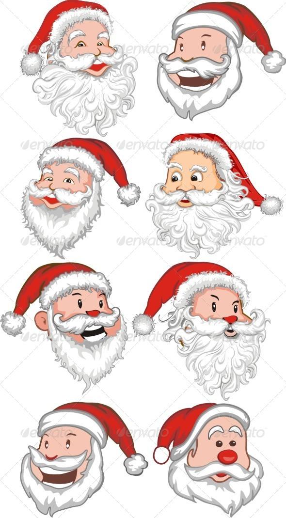 GraphicRiver Santa Claus Set 6454740