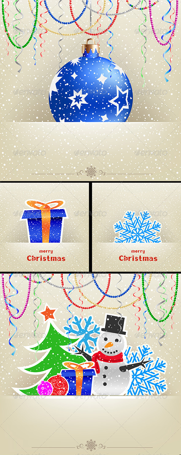 GraphicRiver Christmas and New Year Card Collection 6455691