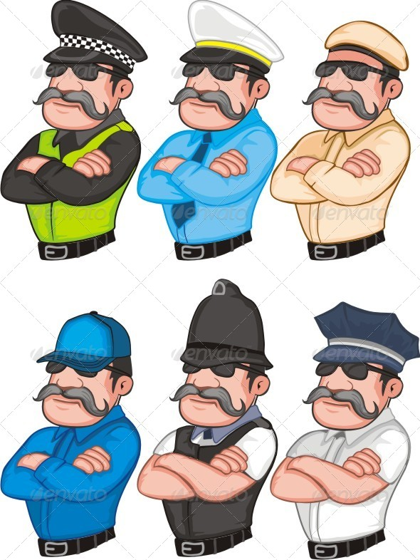 GraphicRiver Police Set 6455834