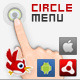 AS3 Circle Menu for Air, android and iOS