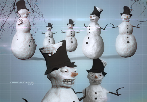 Snowman Creepy - 3DOcean Item for Sale