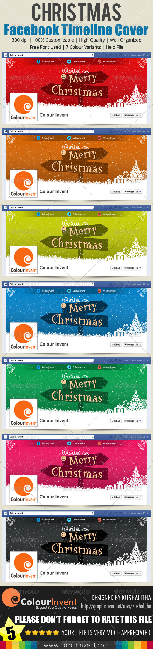 GraphicRiver Christmas Facebook Cover 6456238