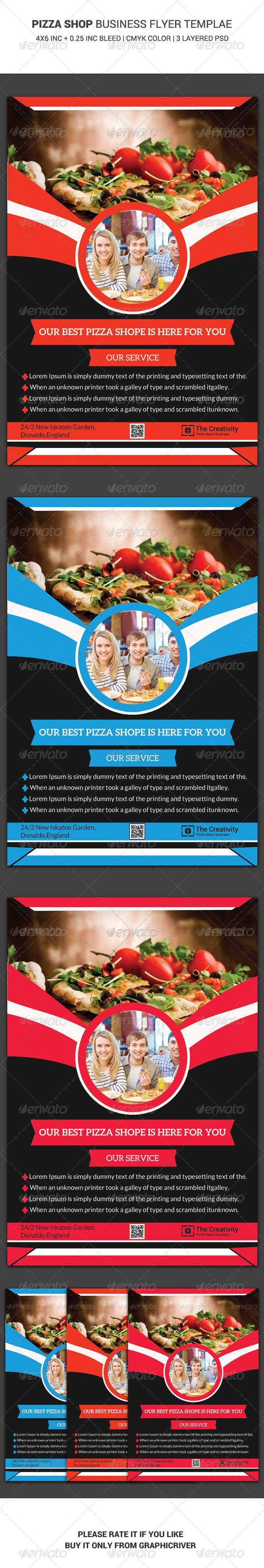GraphicRiver Pizza Shop Business Flyer Template 6456659