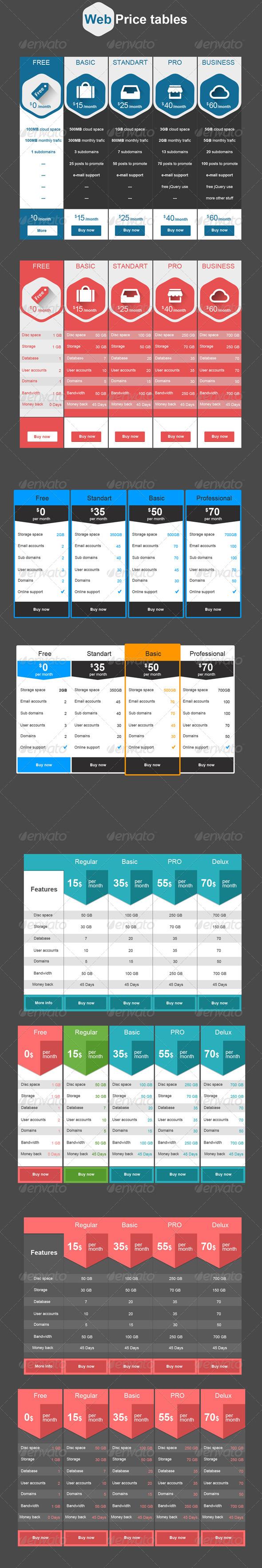 GraphicRiver Web Price Tables 6457135