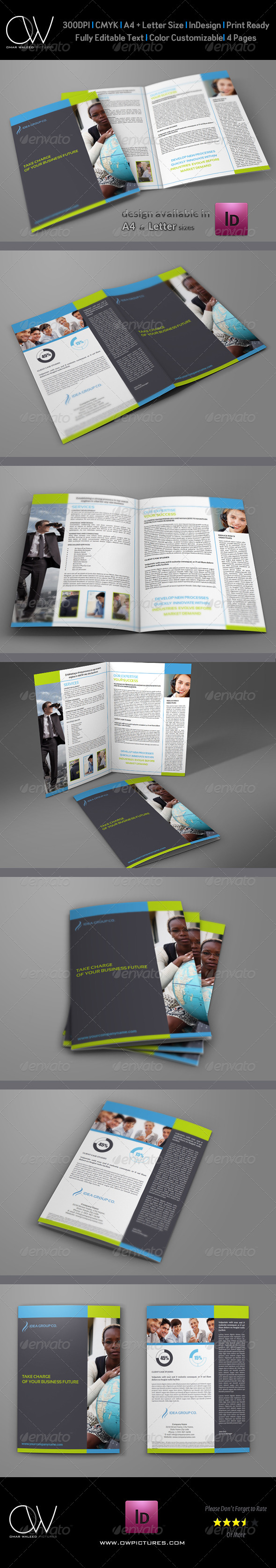 GraphicRiver Company Brochure Bi-Fold Template Vol.13 6457207