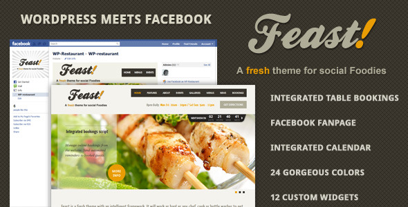 Wordpress Theme with matching Facebook Page
