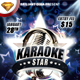 Karaoke Star Or Night Party Flyer