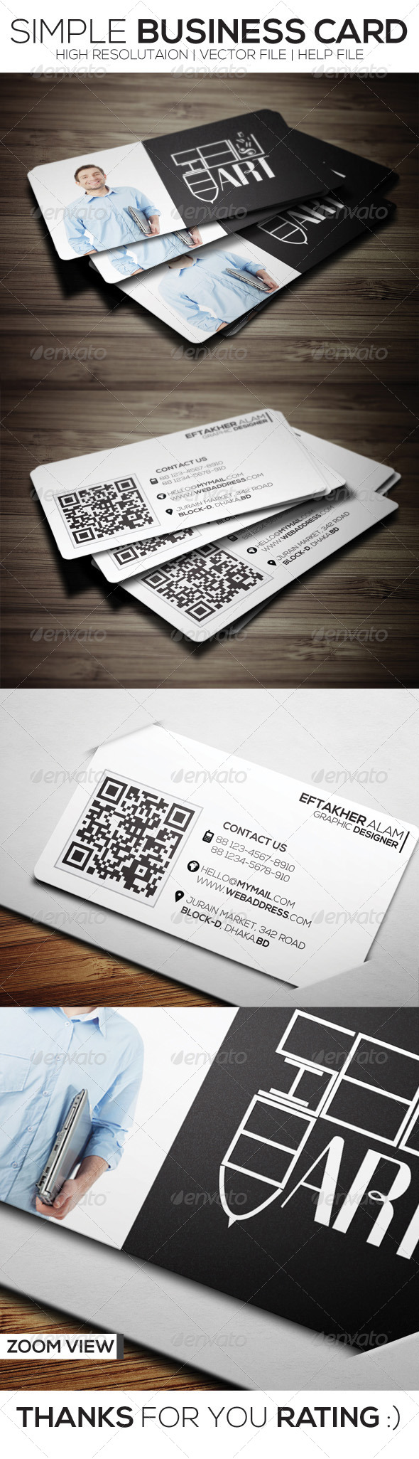 GraphicRiver Simple Business Card 6423686