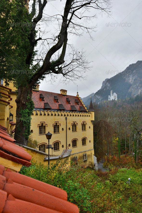 Hohenschwangau castle in Germany. - Stock Photo - Images