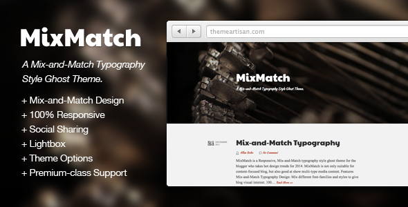 MixMatch: A Mix-and-Match Typography Style Ghost T