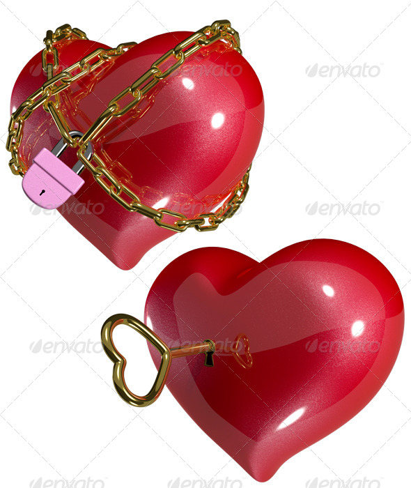 GraphicRiver Heart on the Lock 6457762