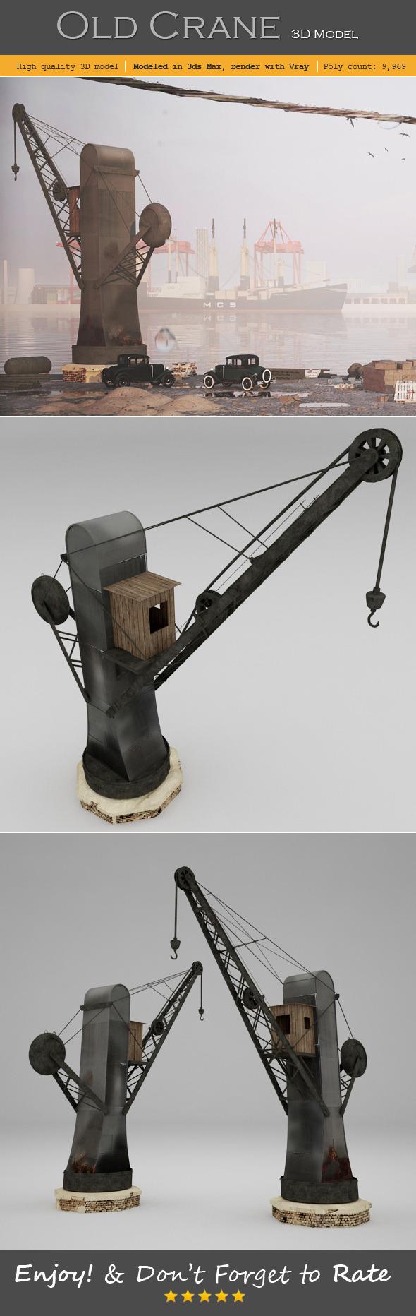 3DOcean Old Crane 6457890