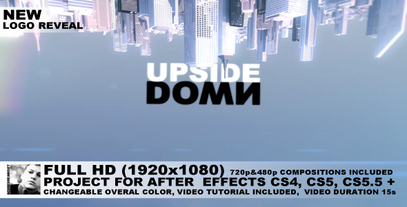 After Effects Project - VideoHive Upside Down City Logo Reveal 663500