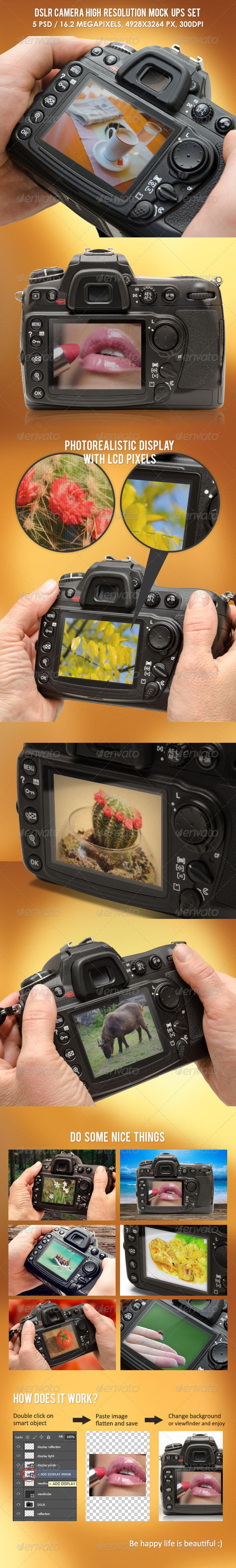 GraphicRiver DSLR Camera High Resolution Mock-ups 6458551