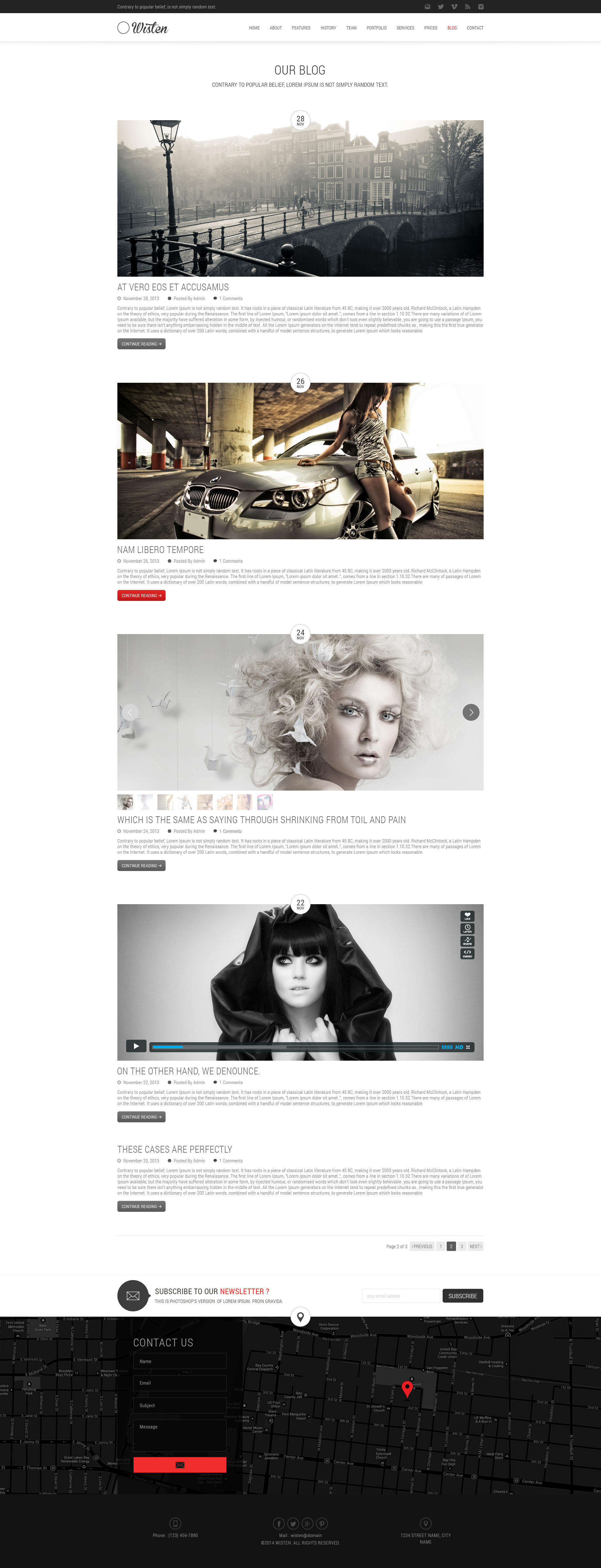Wisten One Page PSD Theme