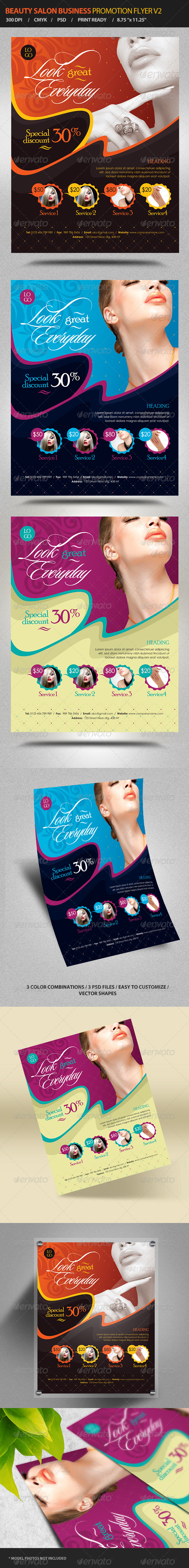 Beauty Salon Business Promotion Flyer Vol 2