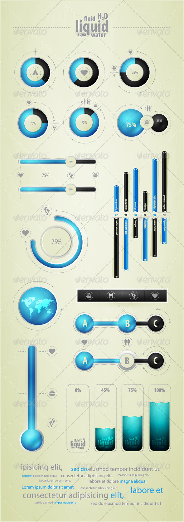 GraphicRiver Infographics element on water and liquid 675179