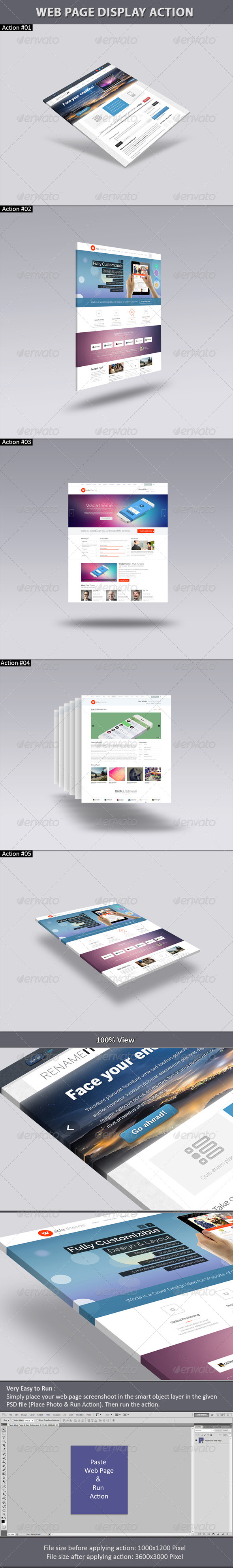 GraphicRiver Web Page Display Action 6458791