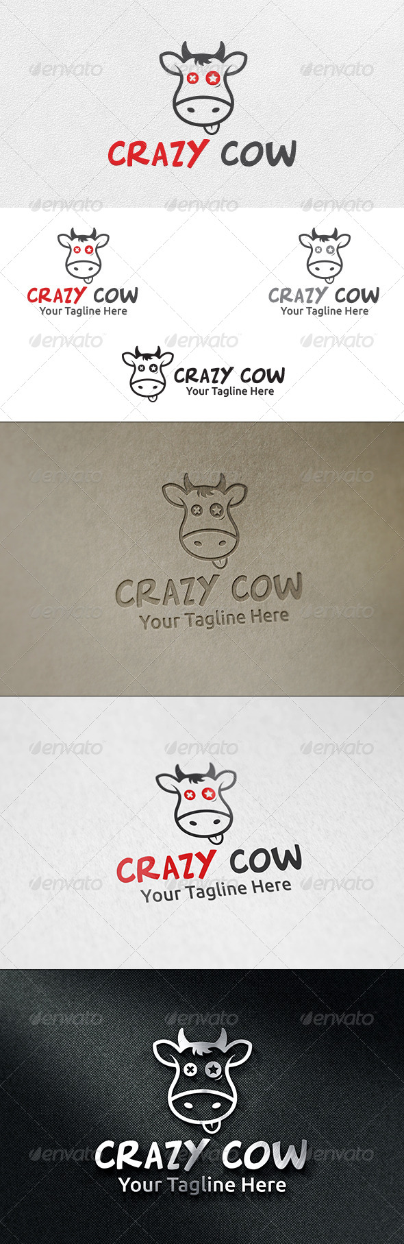 GraphicRiver Crazy Cow Logo Template 6458827