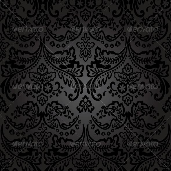 GraphicRiver Damask Vintage Floral Seamless Pattern Background 6459078