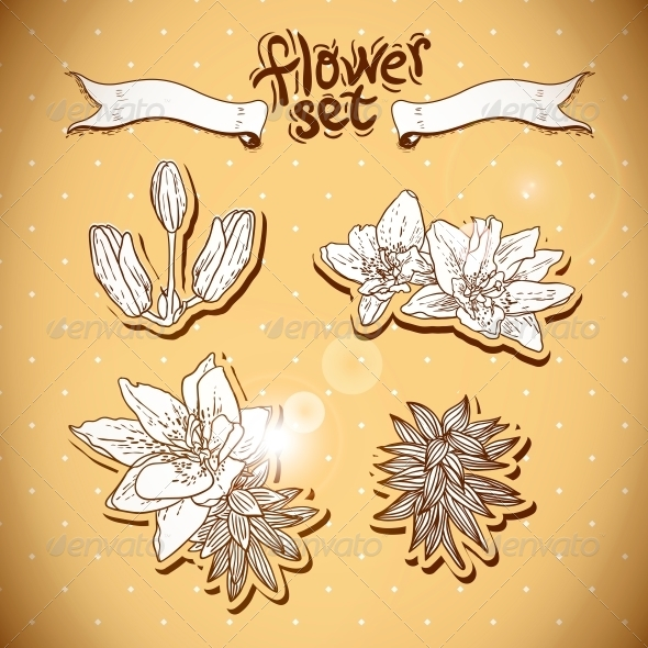 GraphicRiver Vintage Background with Flowers 6459083