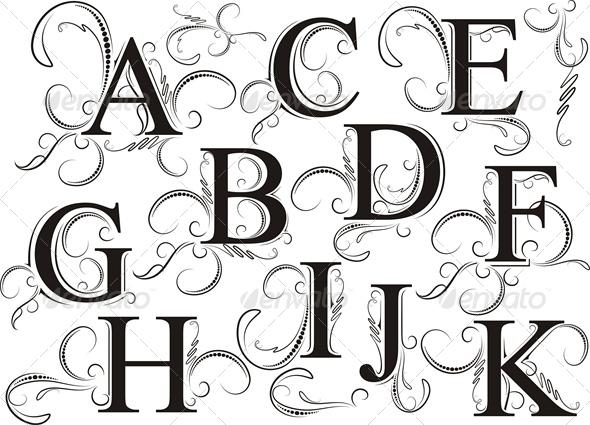 GraphicRiver Decorative Letters 6459382