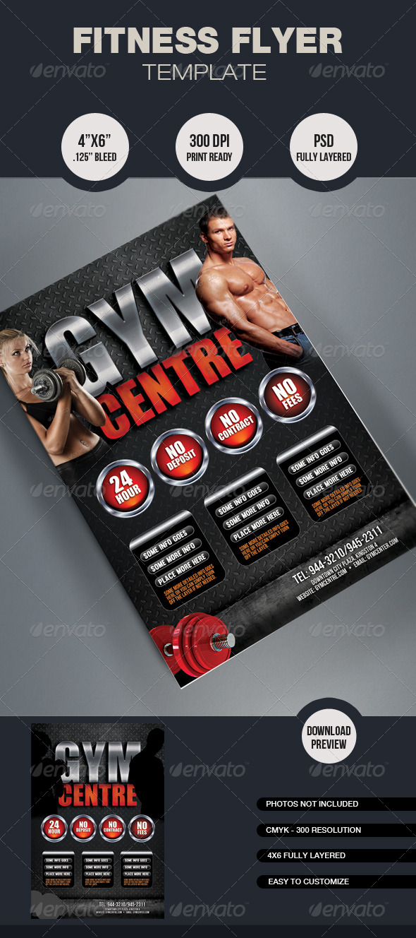 GraphicRiver Fitness Flyer Template 6459443