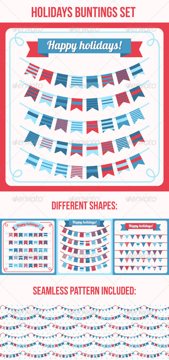 GraphicRiver Set of Bunting and Garland 6459469