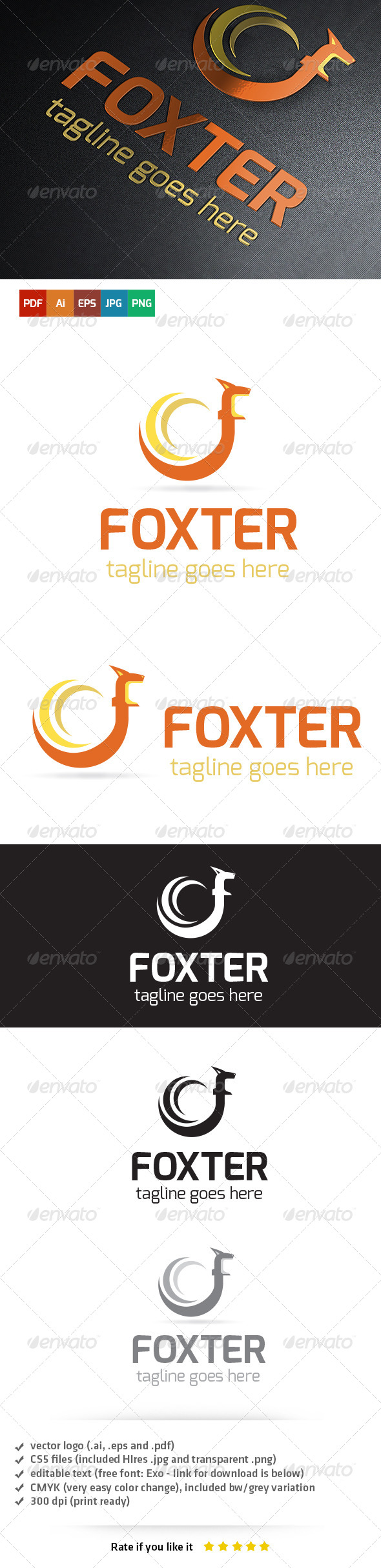 GraphicRiver Foxter Logo Template 6459801