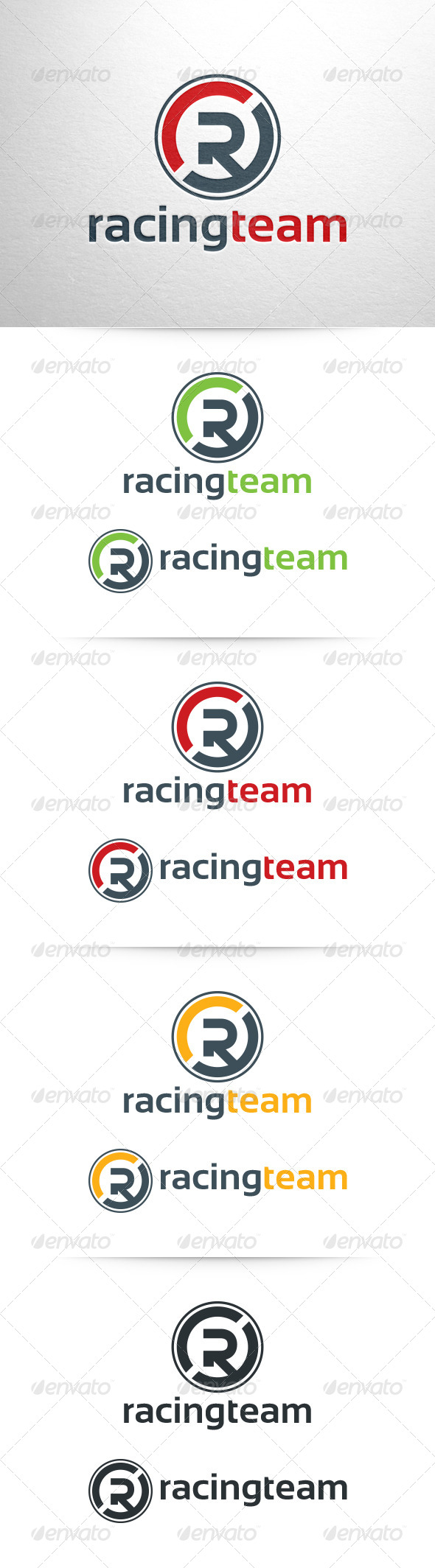 GraphicRiver Racing Team Letter R Logo Template 6459820