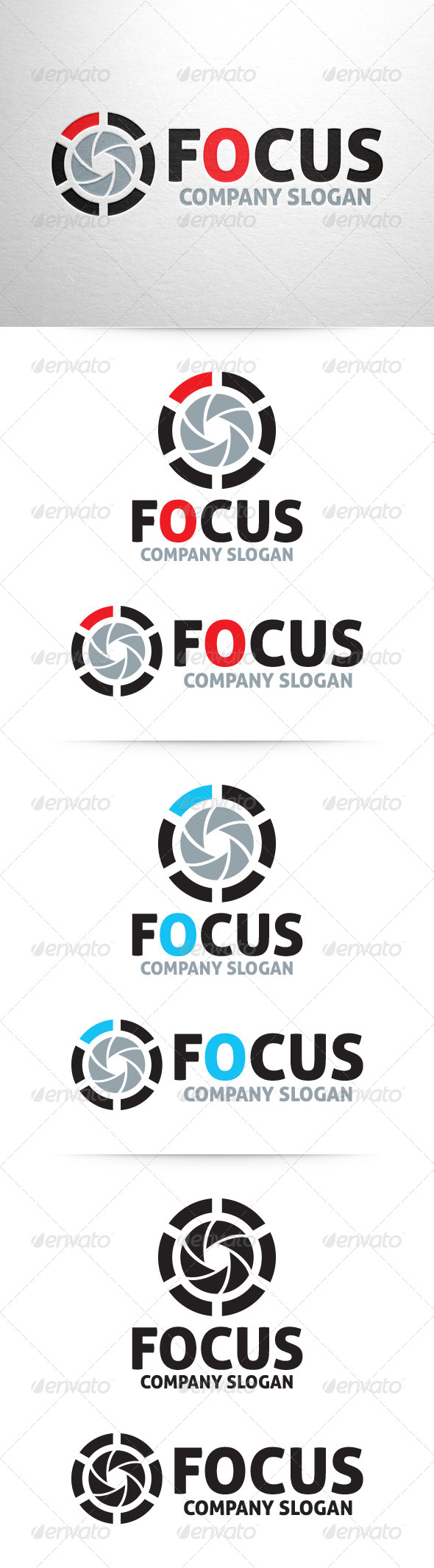 GraphicRiver Focus Photography Logo Template 6459884