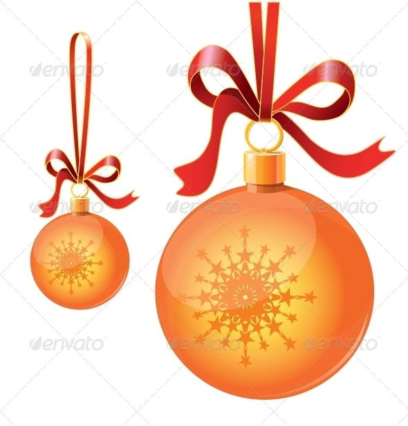 GraphicRiver Christmas Balls on Ribbons 6459888