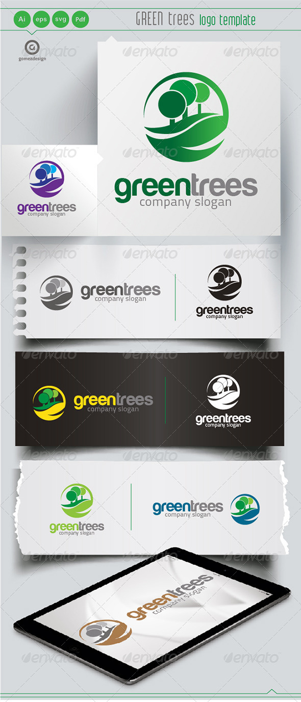 GraphicRiver Green Trees 6459954