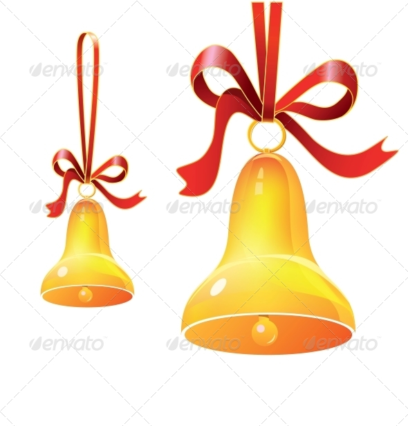 GraphicRiver Christmas Bell with Red Ribbon 6460028