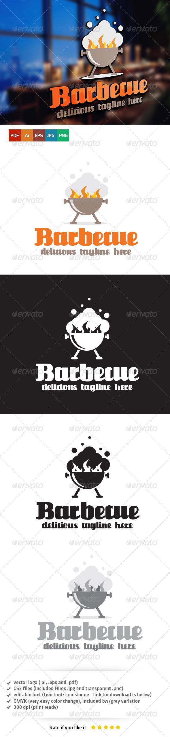 GraphicRiver Barbecue Logo Template 6460037