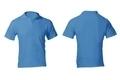 Men's Blank Blue Polo Shirt Template - PhotoDune Item for Sale