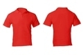 Men's Blank Red Polo Shirt Template