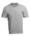 Men's Blank Grey V-Neck Shirt Template