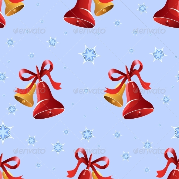 GraphicRiver Christmas Background with Bells and Snowflakes 6460207